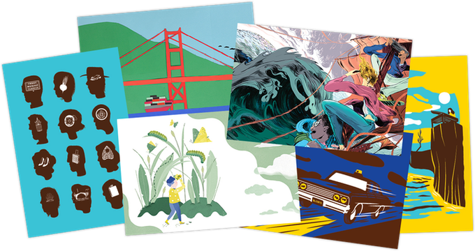For $10: A set of postcards created by the McSweeney's design team.