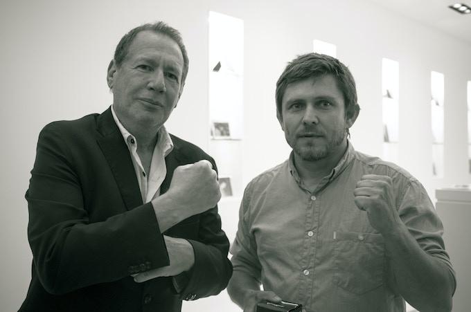 Producer Willard Ford with Garry Shandling