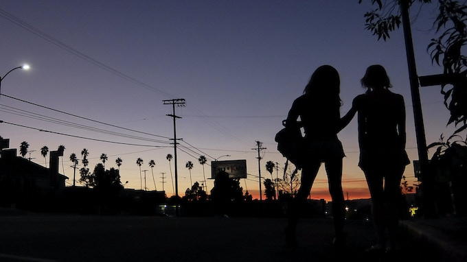 Sean Baker's riotously entertaining Tangerine, about a transgender prostitute in search of the pimp that broke her heart. Courtesy of Magnolia Pictures.