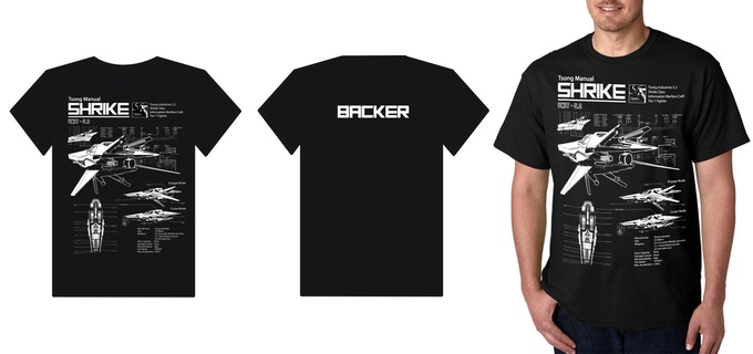 Shrike Schematic T-Shirt (Design subject to change)