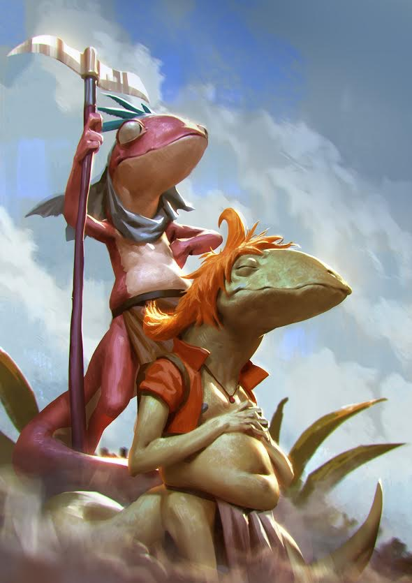 Jarna is a lizard trained like a soldier to work in the lizard society. Blenn is only half lizard and half human, the sensitive son that Vito secretly got. Blenn and Jarna are forced to leave the safety of home when their lizard village is destroyed.