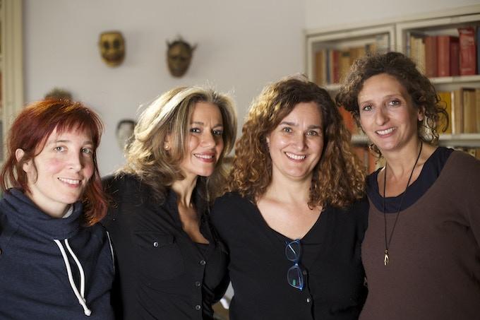 Virginia (sound), Mujah (writer/director), Debbie (co-writer), and Maura (DP)