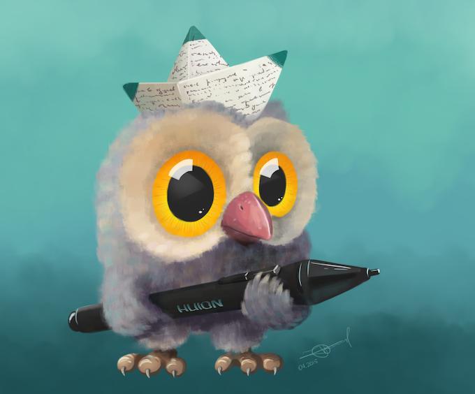Huion mascot by Alex Truman