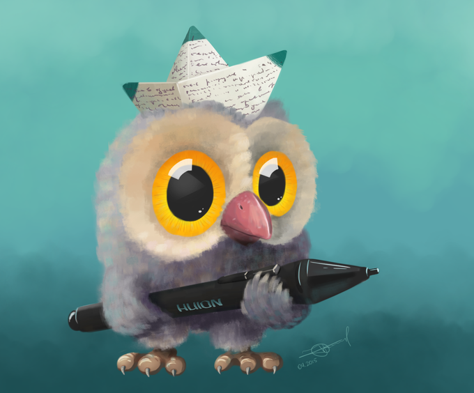 Huion mascot by Alex Truman