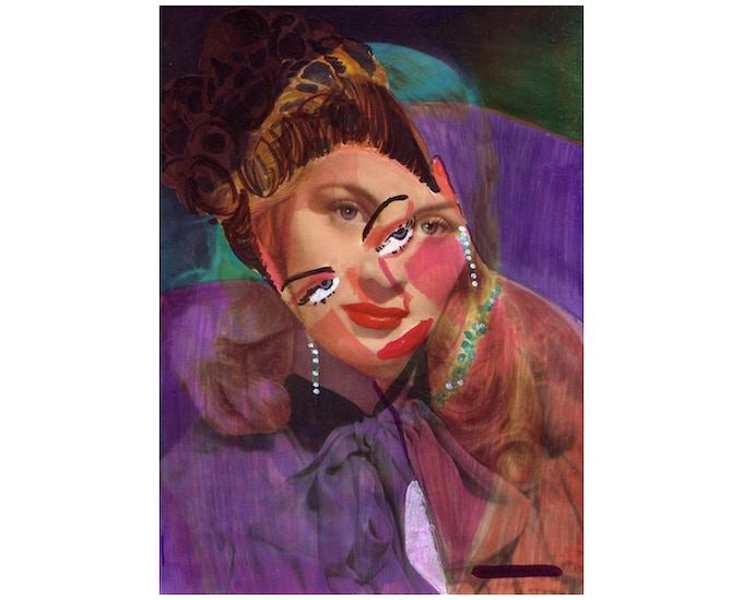 £40: Lady Lucy, Dorothy Mai, 2013, giclée print, (30cm x 42cm).