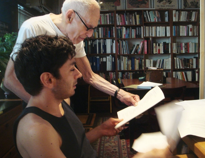 Barney Rosset going over POKIPSE edits with me at his 4 Ave loft