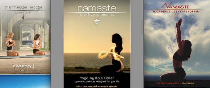Rewards include Kate Potter's Namaste Yoga