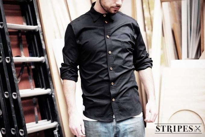 Handmade, GOTS certified 100% organic popeline shirt (130 gr/m2)