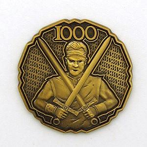 Dungeon Bastard-1000 coin. Design by Lee Smith.