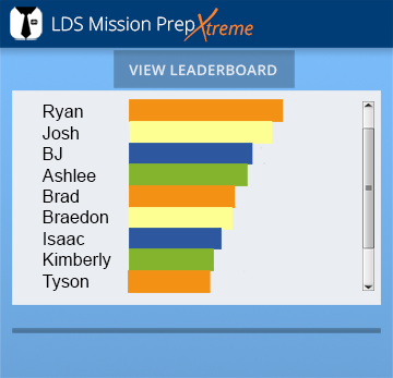 The Leaderboard shows friends their progress in comparison to one another, creating a friendly competition in completing the challenges. Viewing the progress of their friends helps them to work together on any upcoming challenges.
