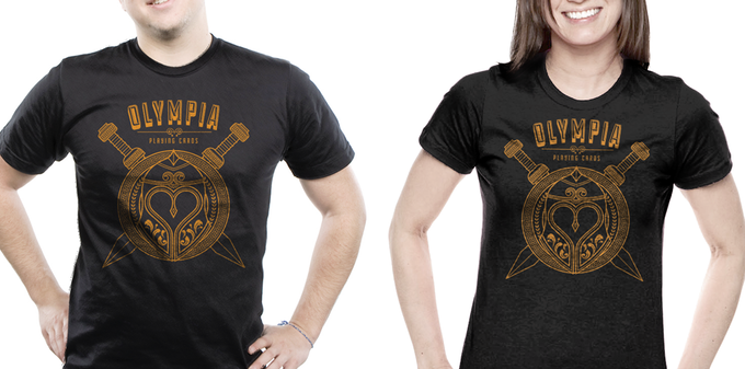 "Black ""Olympia"" Tshirt for Men & Women (Available in S,M,L,XL, XXL)."