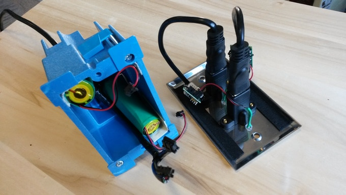 Inside the Solar Socket prototype