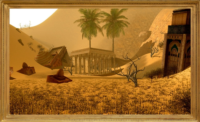 The player travels and explores an open world consisting of vast deserts, dunes, mountains and coastlines. Having to travel the wastelands, fight foes, protect settlements, accompany or attack caravans, the player will stumble upon  ruins...