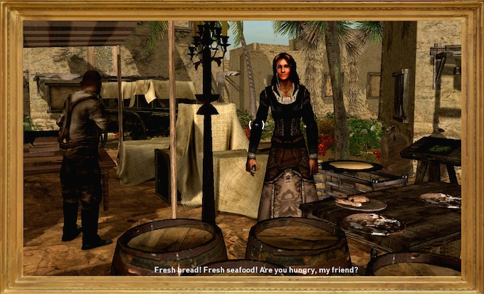 Taking on side quests for the settlements and outposts or protecting the caravan routes boosts the players popularity. This leads to better trading options and even free food provided by the inhabitants.