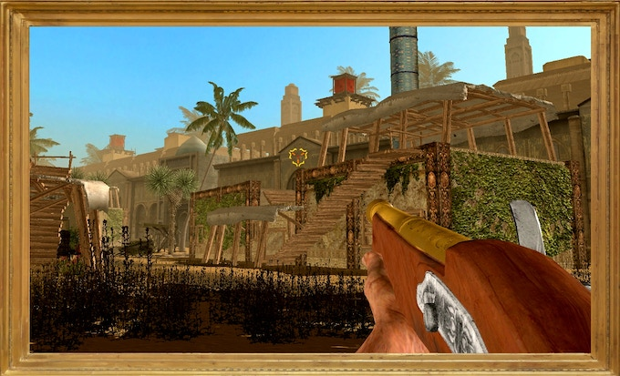 ...while the hand cannon, a very unique piece of weaponry, reflects the combat values of a shotgun. Of a small, bulky, one-shot shotgun with the stopping power of an elephant.