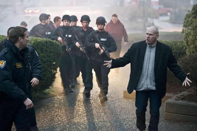 Uwe Boll on the set of Rampage: Capital Punishment