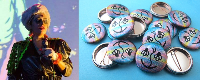 The amazing Carrie Vinarsky and buttons of her own design!