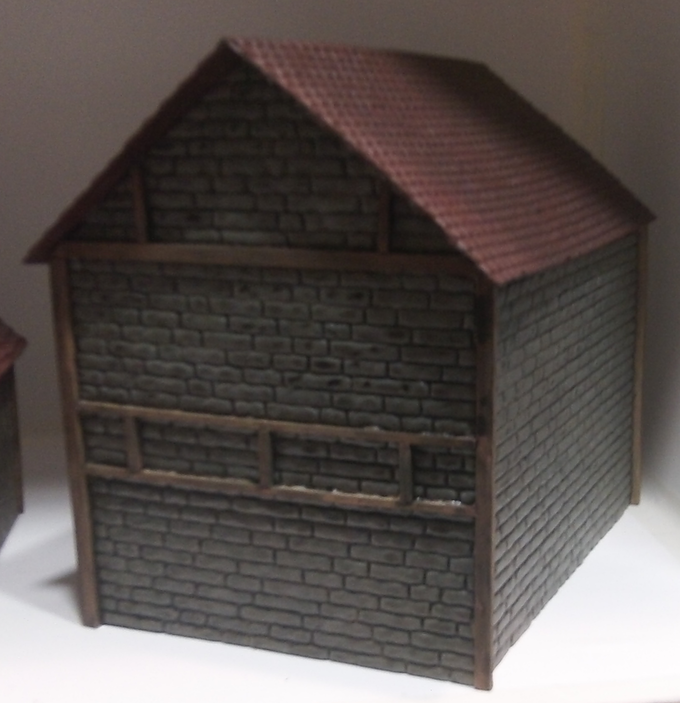 Large brick and beam House