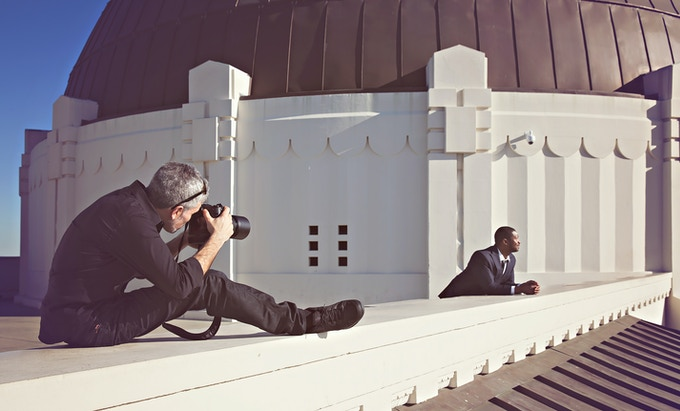 Photographing Actor Roger Cross [Continuum | Dark Matter | The Strain] at beautiful Griffith Park Observatiory