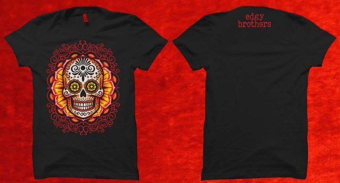 Dia de los muertos second edition playing cards by edgy for Kicks on fire t shirt
