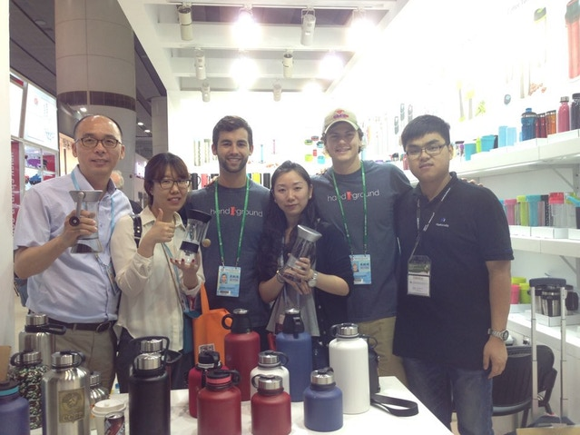 With Caffe Museo from South Korea at Canton Fair