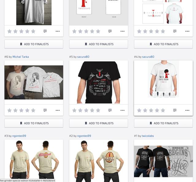 Screenshot of Handground Tshirt concepts