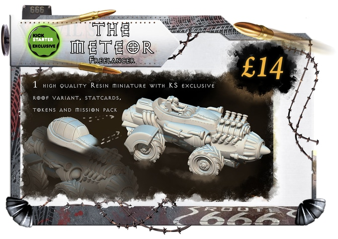 With KS Exclusive Optional Canopy: The Meteor is the mad design of Freddie Whittle. A man of little words, but that will happen when your tongue has been cut out. The Meteor is slow to start but once its wound up its near impossible to beat!