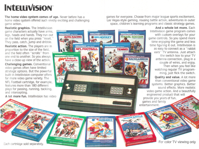 Original Intellivision Advertisement