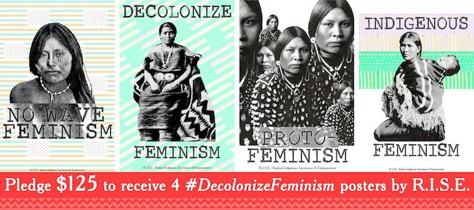 "Each poster measures 12"" x 18"". Designed by Indigenous Queer Diné Artist Demian DinéYazhi''"