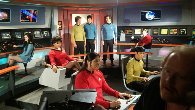 Shooting on this set, reworked for Captain Pike