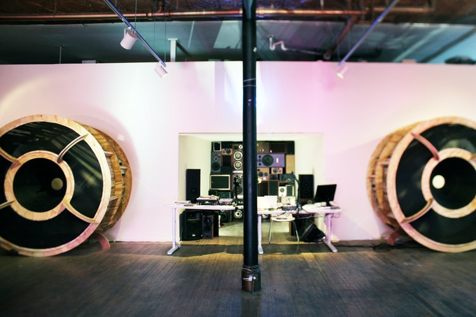 Juan Angel Chavez made these giant speakers