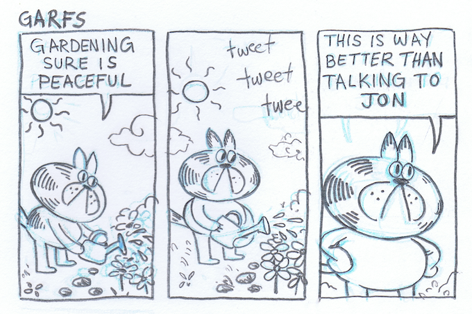 A slice of life comic about a sassy cat.