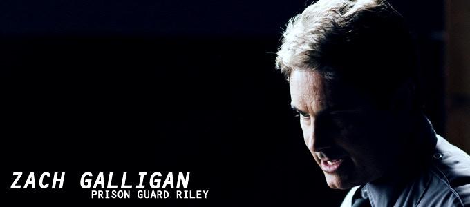 Zach Galligan (Gremlins, Hatchet 3) delivers a creepy and disturbing performance as prison guard RILEY