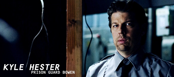 Kyle Hester (Andersonville, The Book of Daniel) delivers a twisted performance as prison guard BOWEN