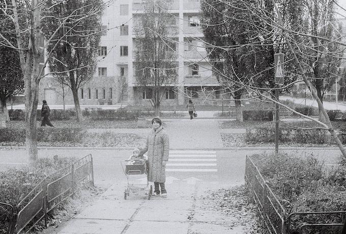 Me and my mother Marina, Lenin street, Pripyat, 1985