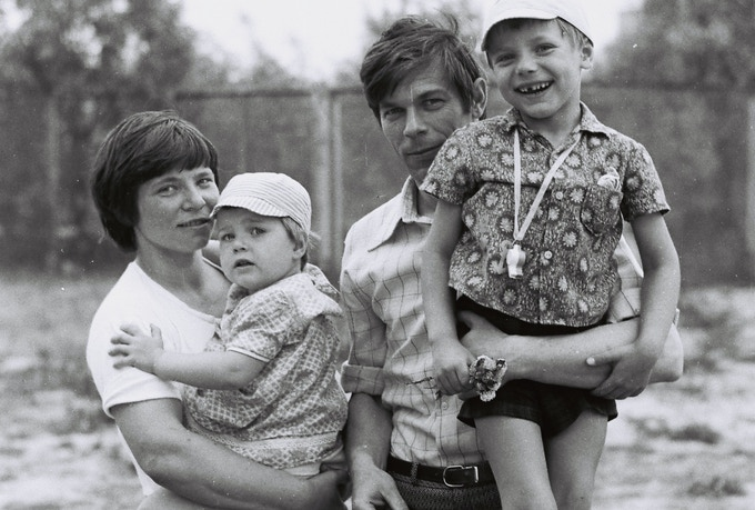 Family in Pripyat, 1985. From my father's photo archive