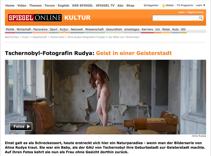 """""""Prypyat mon Amour"""" featured on the website of renown German newspaper Spiegel"""