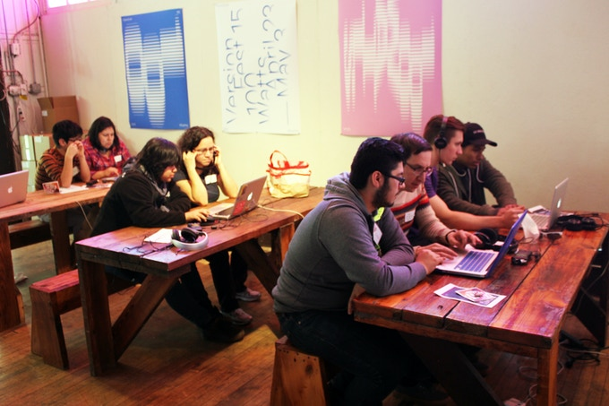 Recording workshop with Yollocalli Youth Art