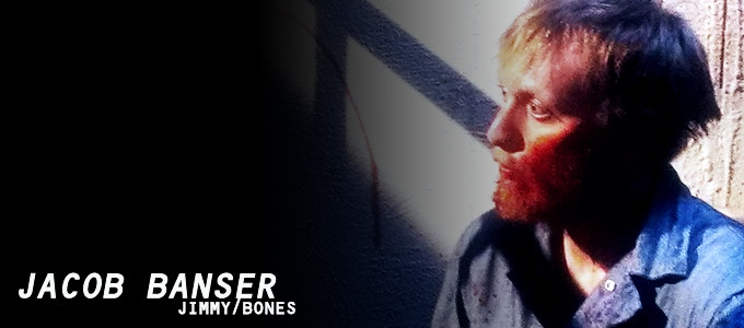 Jacob Banser (The Animal Clinic, Dig a Hole and Die) gives a quietly unsettling performance as inmate JIMMY/BONES