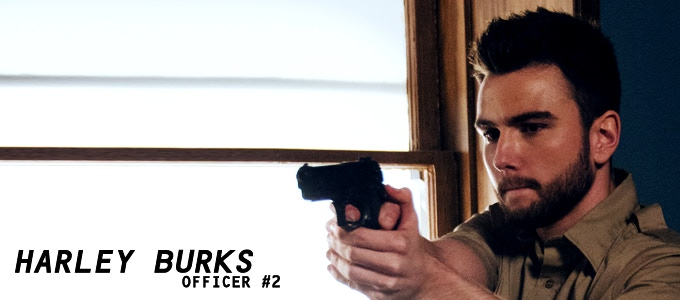 Harley Burks (The Donor, Two Please) plays OFFICER #2 - one of the officers that arrests Richard Sullivan