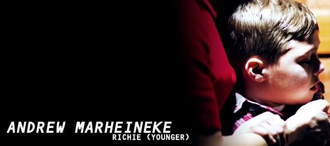 Andrew Marheineke (Modern Family, Homegrown) delivers an unsettling performance as the younger version of RICHIE