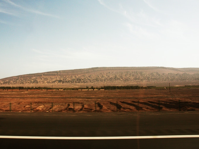 Roadside View - Kumul to Urumqi (image courtesy of Xiaoxuan Lu)