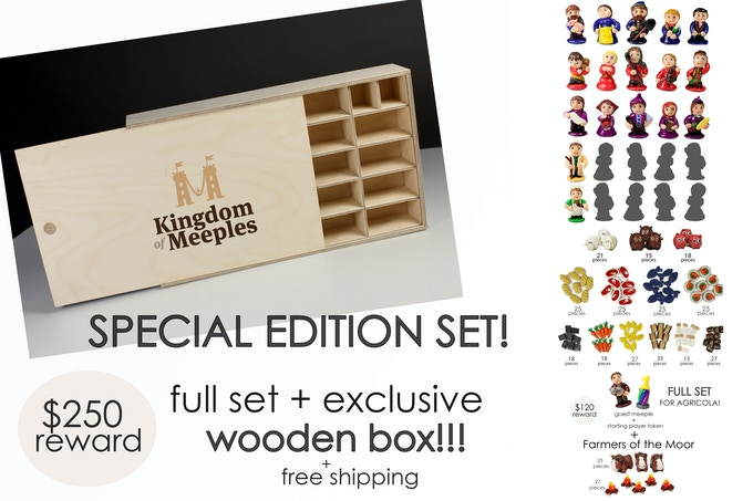"8 May Update. ""Special Edition Set"" becomes bigger - now with ""Farmers of the Moor Set""!! For everyone who has already pledged or going to pledge! Backer, your full name will be applied on the wooden box!"