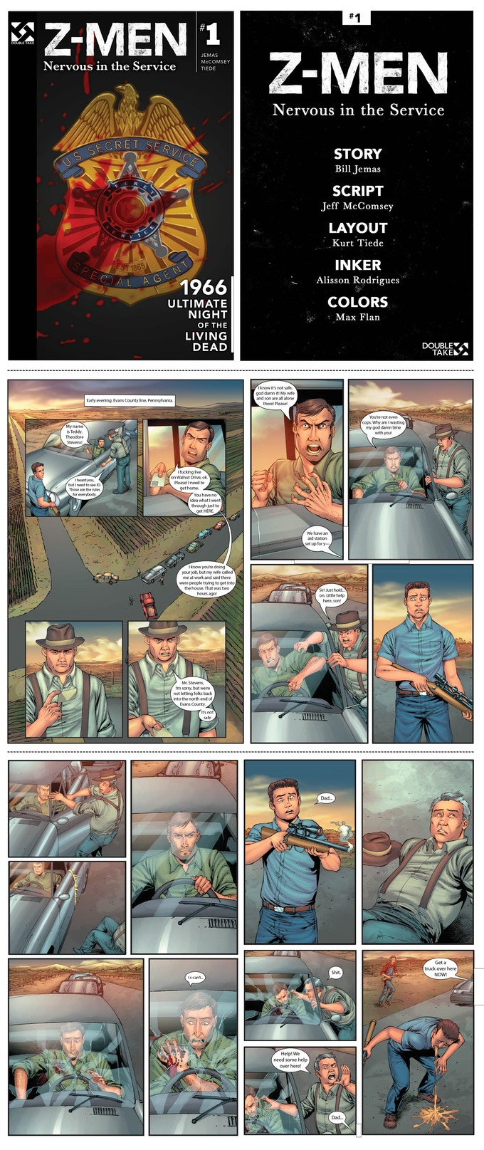 Inside Look 5/8/2015 into Z-Men #1: Nervous in the Service (credit page is not final!)