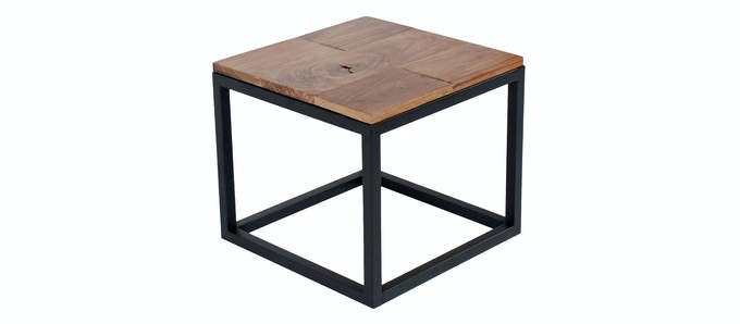 Square Tube End Table - Available in Raw, Black & White