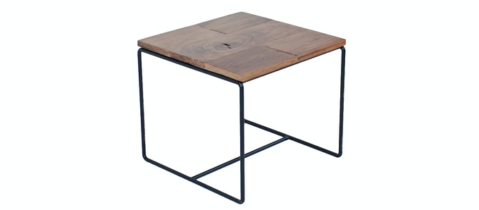 Wire End Table - Available in Raw, Black & White