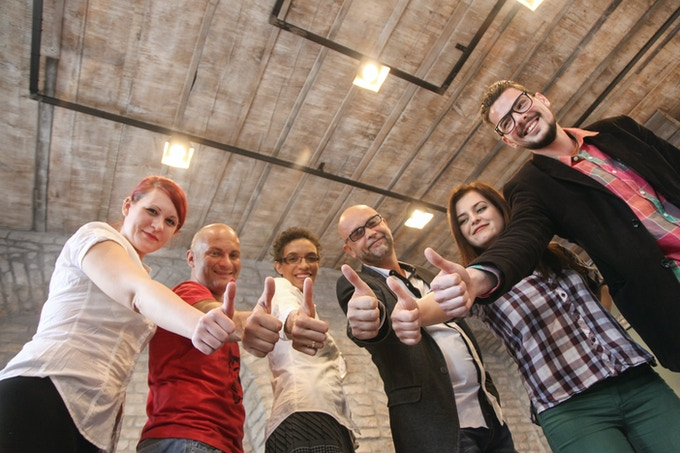 The team consists of (from left to right) Joanna, Milos, Patricia, Momir, Tamara and Thomas