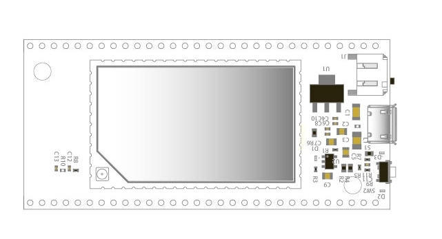 Bare PCB plate for Domino Core, no components mounted