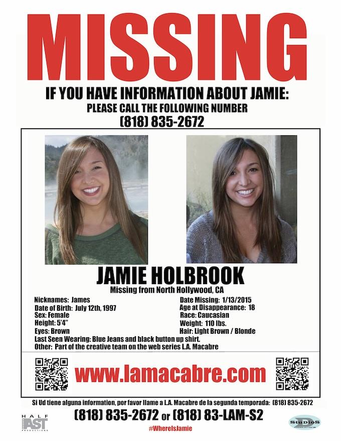Jamie is Missing! Help us find her!
