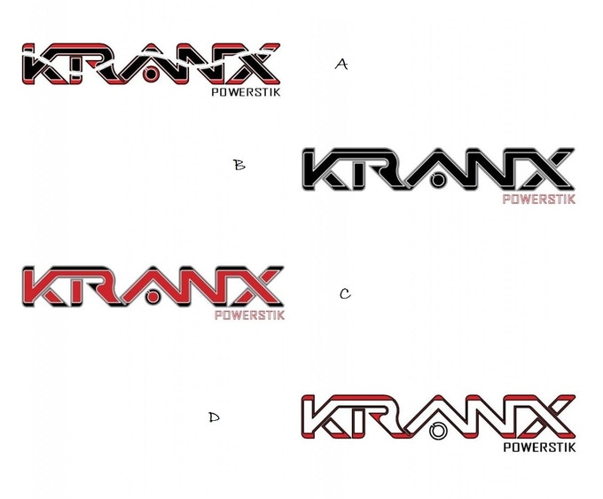 Reward #1 - KRANX POWERSTIK logo candidates. You vote for our (primary) look!